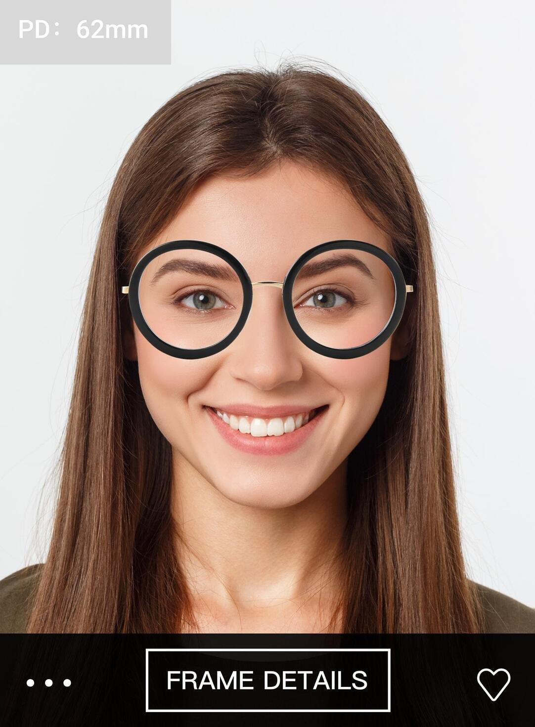 Easily try on your prescription glasses with our Try On tool.