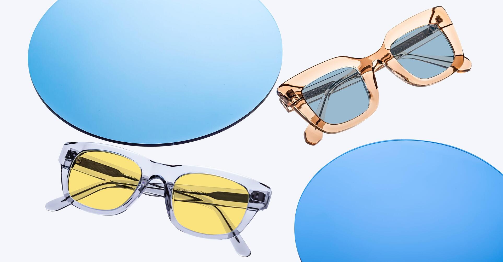 Translucent and clear frames for 2021.
