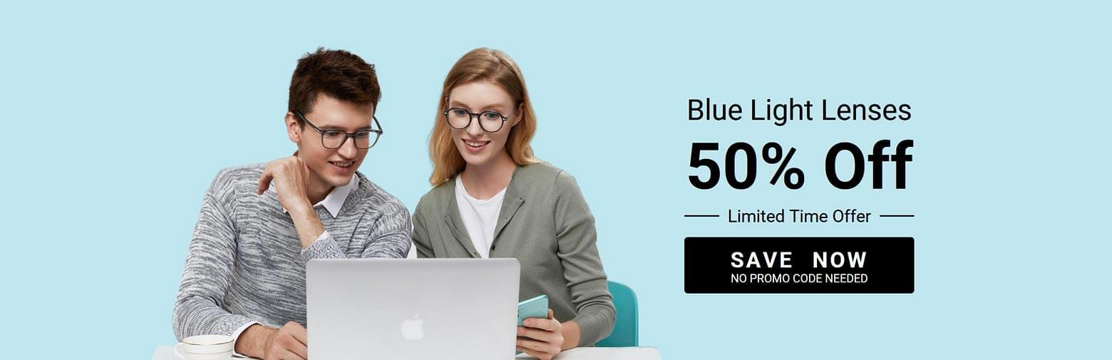 50% Off BlueReflect Lenses - Limited Time Offer