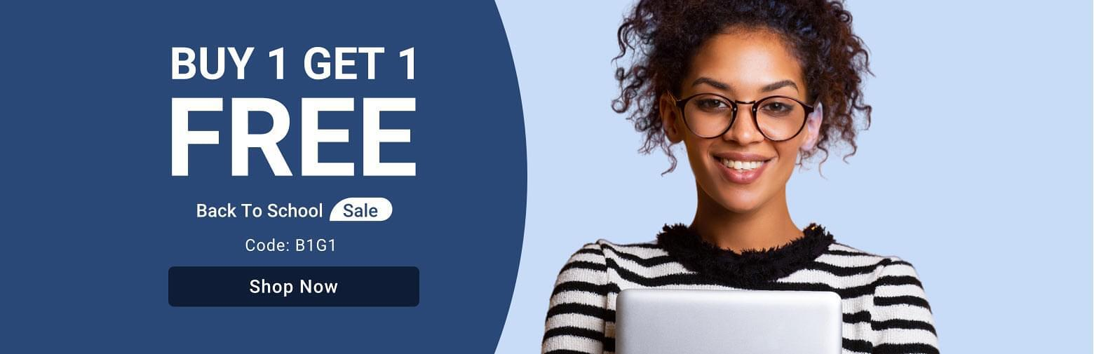 Back To School Sale - Buy 1 Get 1 Free SITEWIDE