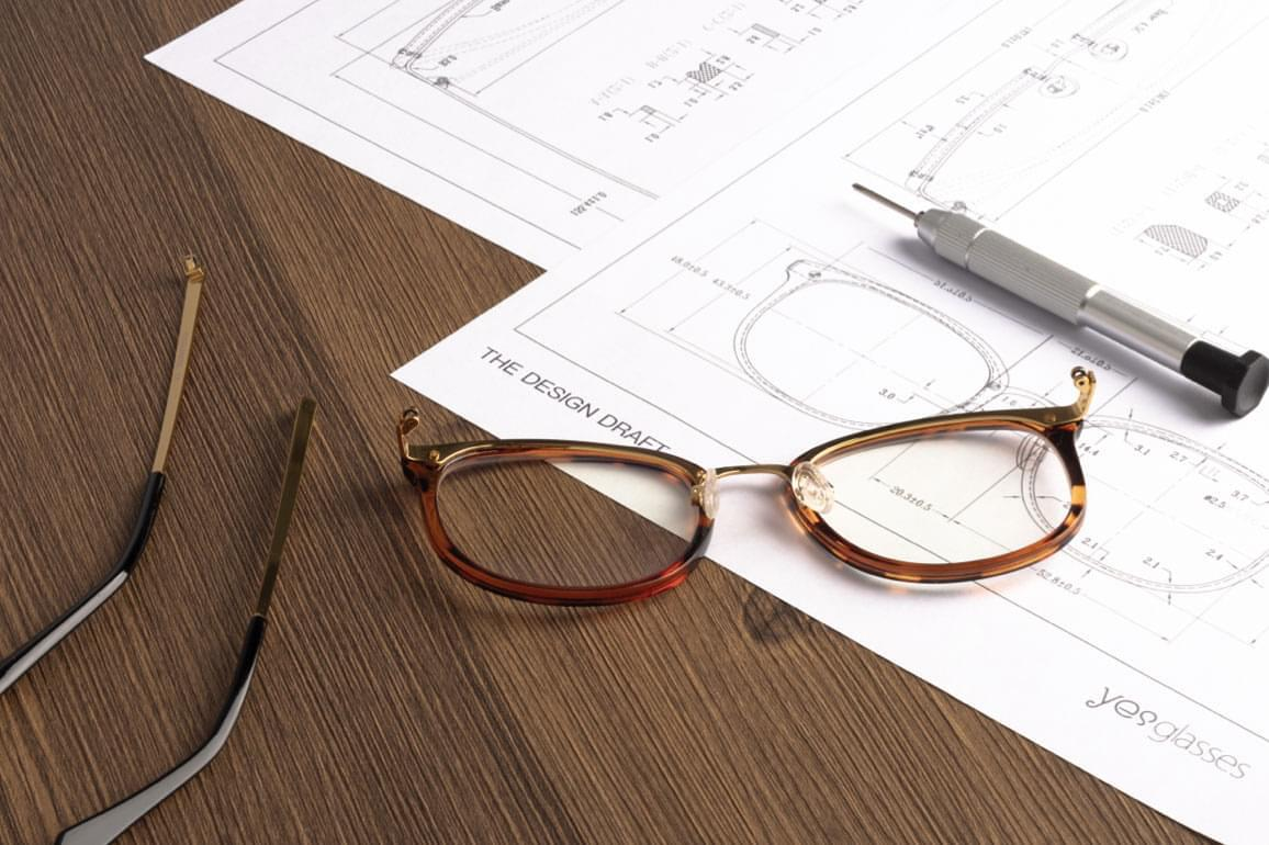 All styles by Yesglasses are designed in-house.